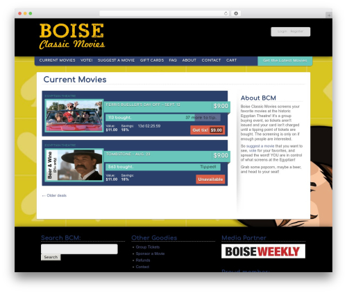 GBS Prime Theme best WordPress video theme - boiseclassicmovies.com/deals