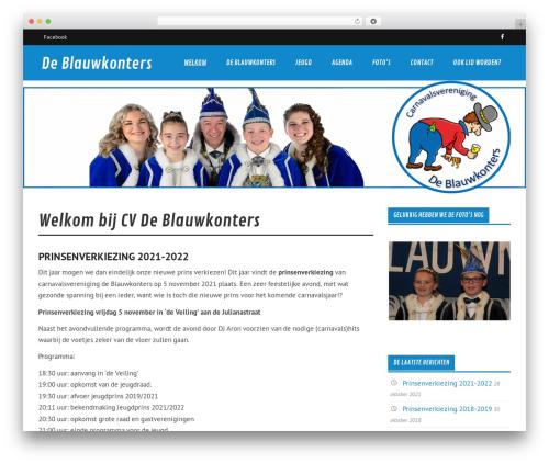 Glades theme WordPress free - blauwkonters.nl