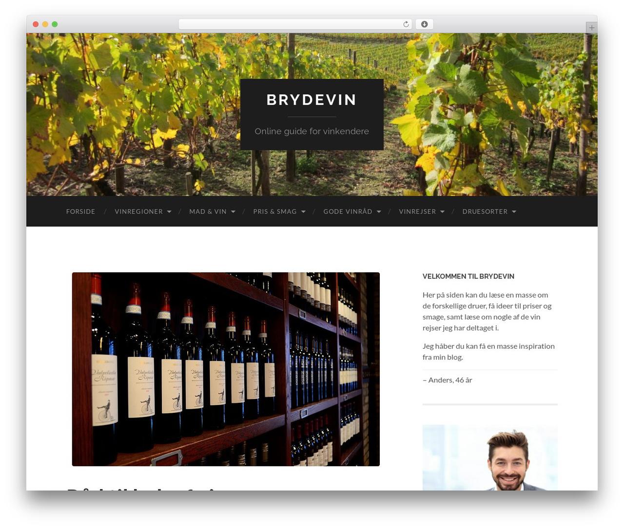 Hemingway best free WordPress theme - brydevin.dk