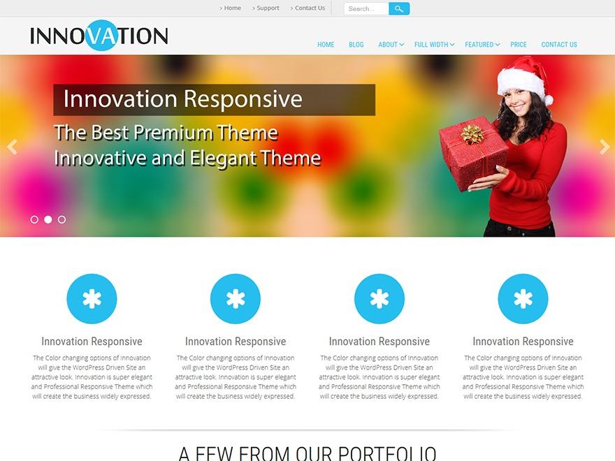 Innovation Lite Child best portfolio WordPress theme