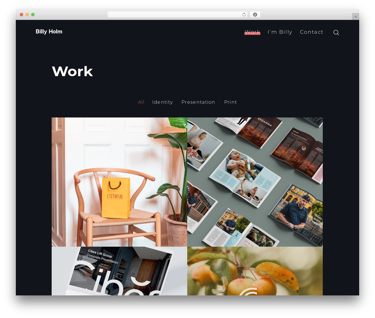 SohoPRO WordPress theme - billyholm.se