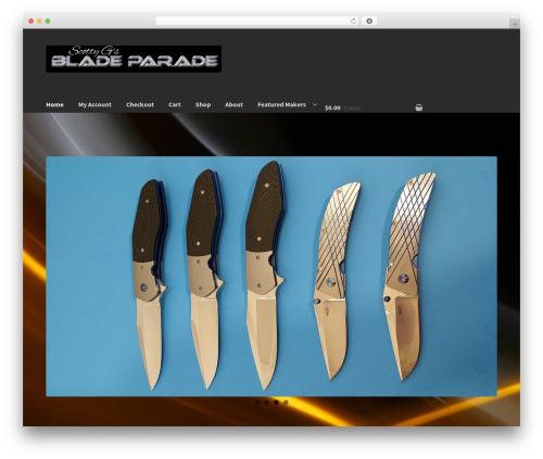 Storefront WordPress ecommerce template - bladeparade.com