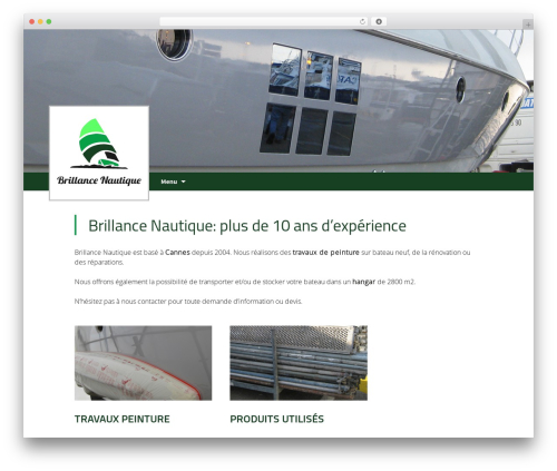 Twenty Thirteen best free WordPress theme - brillancenautique.com
