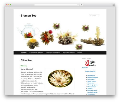 WordPress theme Twenty Eleven - blumen-tee.de