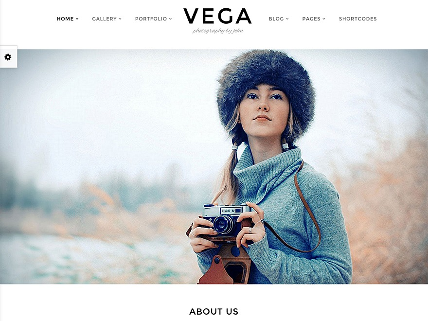 WordPress website template Vega Chlild