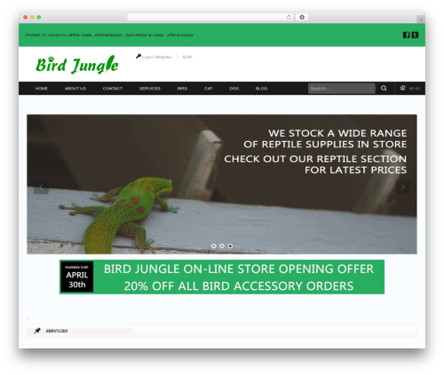 Bird Jungle theme WordPress - birdjungle.ie