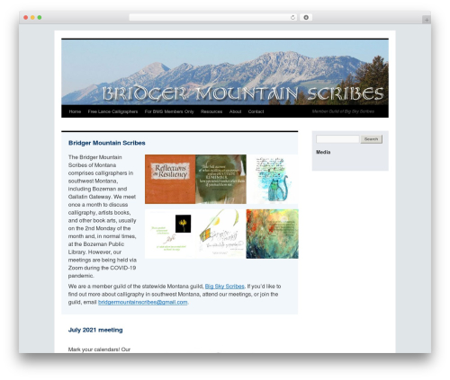 BMS WordPress theme - bridgermountainscribes.org