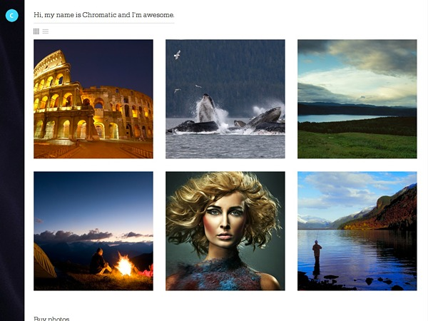 Chromatic WordPress gallery theme