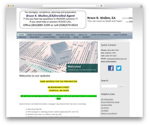 Customized WordPress theme design - brucekmullen.com