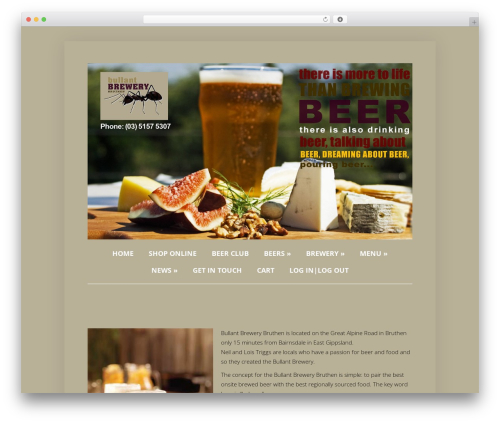 Foxy WordPress theme - bullantbrewery.com