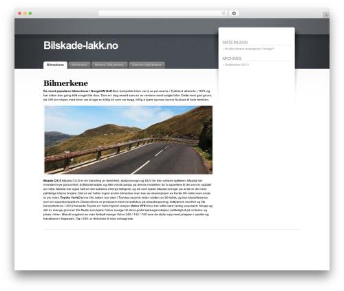 Fusion WordPress theme - bilskade-lakk.no