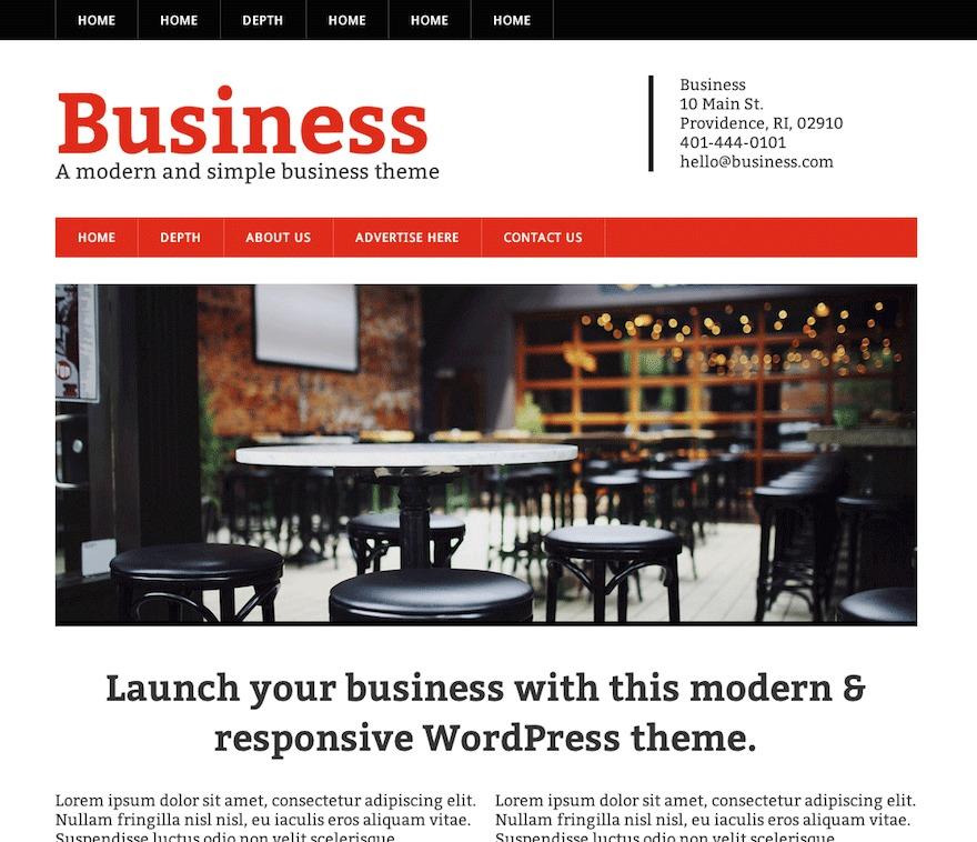 Modern Business Child business WordPress theme