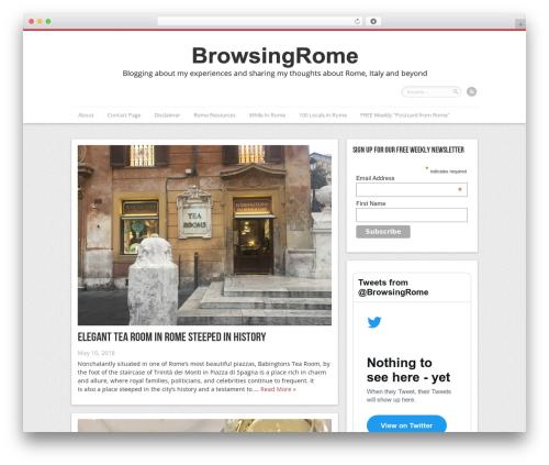 Remal WordPress blog template - browsingrome.com