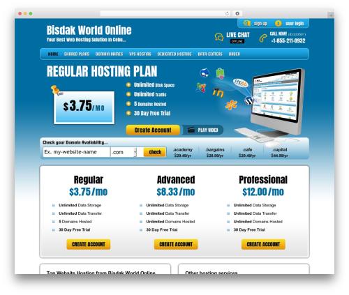 WordPress theme PHP Hosting - bisdakworldonline.com