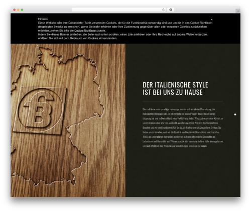 WP theme Vigor - bocchini.de