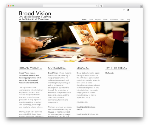 Albedo WordPress theme design - broad-vision.info