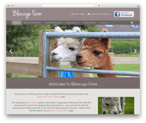 Impreza premium WordPress theme - blencogofarm.com