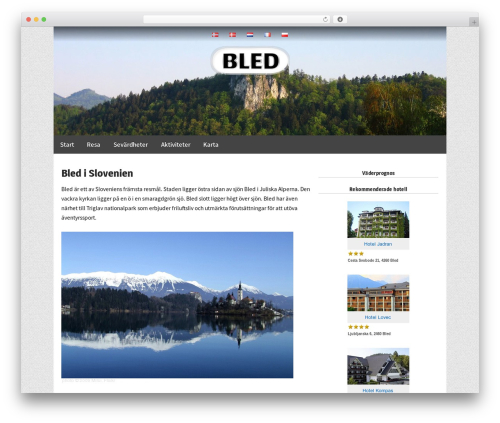 Responsive Pro template WordPress - bled.se
