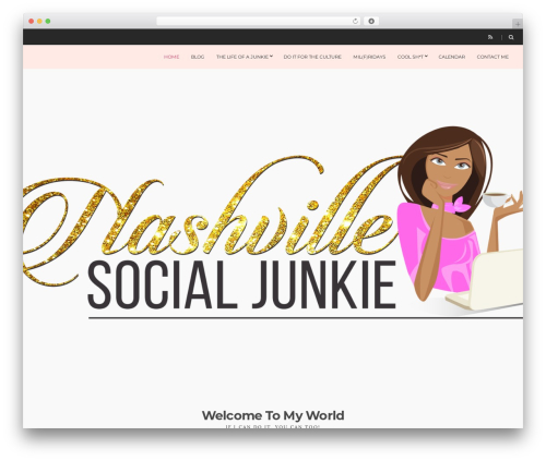 Spencer WordPress theme design - nashvillesocialjunkie.com