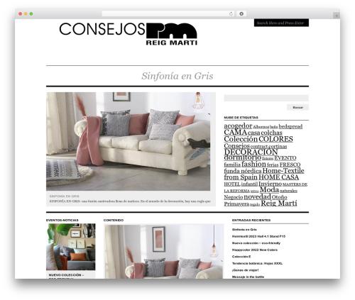 Structure WordPress theme - blog.reig-marti.com