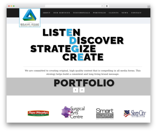 Suite theme WordPress - brandedgemarketing.com