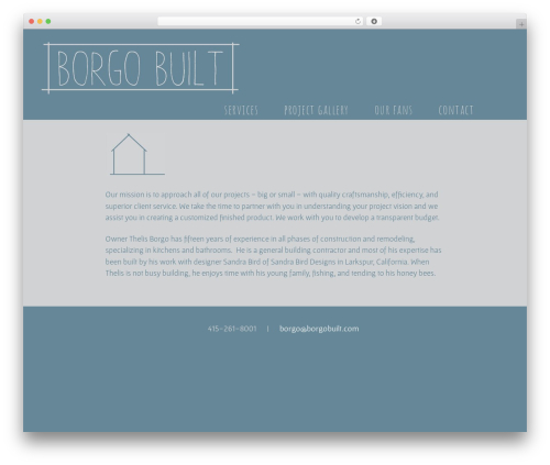 Twenty Thirteen best free WordPress theme - borgobuilt.com