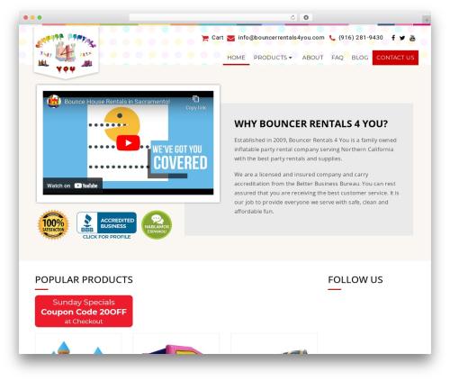 California premium WordPress theme - bouncerrentals4you.com