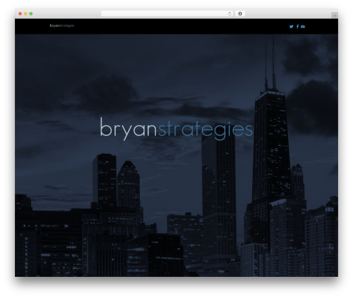 Omni WordPress website template - bryanstrategies.com