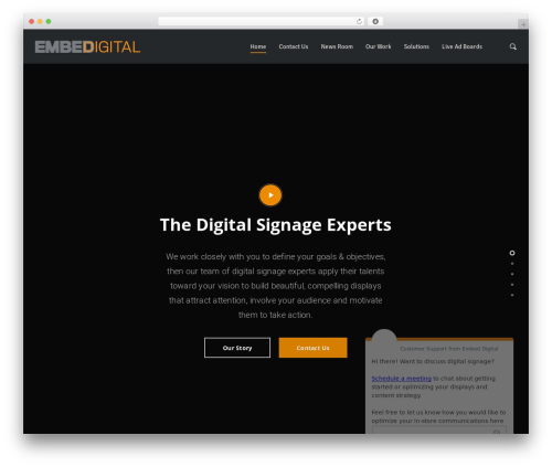 Template WordPress Salient - embeddigital.com