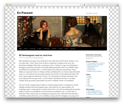 Twenty Ten best free WordPress theme - blog.enpassant.se
