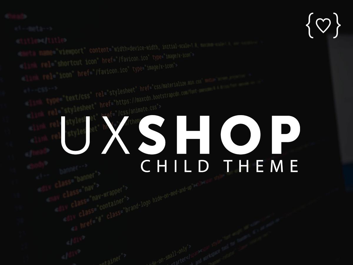 UX Shop Child best WooCommerce theme