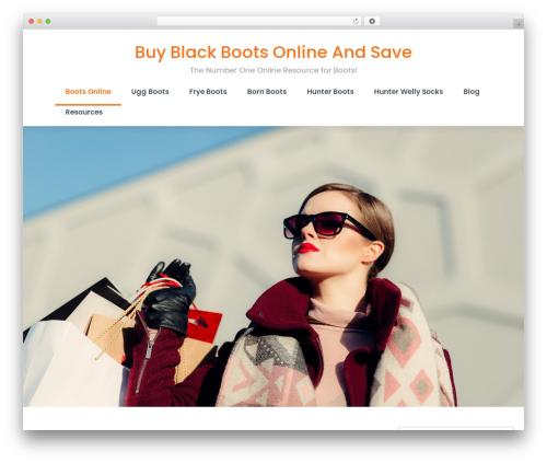 WordPress website template shopstudio - blackboots.net