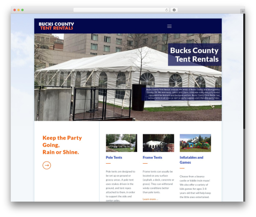 Betheme WordPress theme - buckscountytentrentals.com