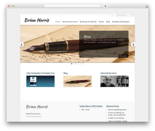 Chameleon WordPress theme - brianharrisauthor.com