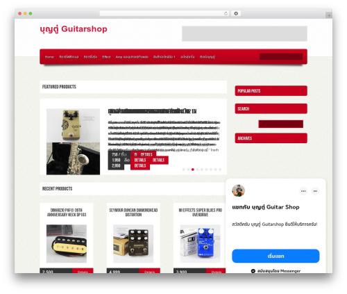 Ebuy WordPress store theme - boontuguitarshop.com