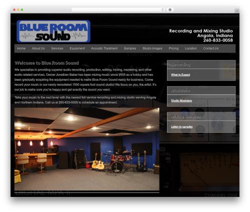 Gridiculous WP template - blueroomsound.com