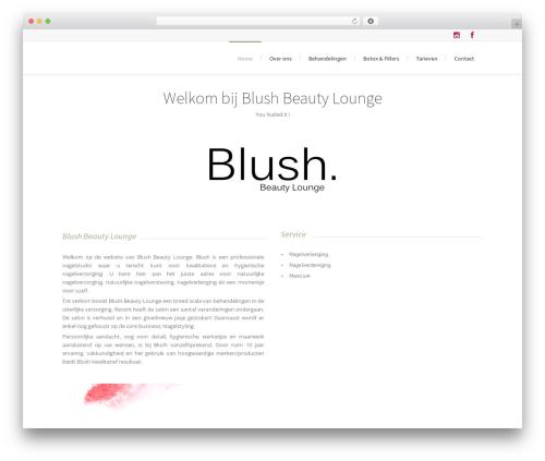 Lounge template WordPress - blushbeautylounge.nl