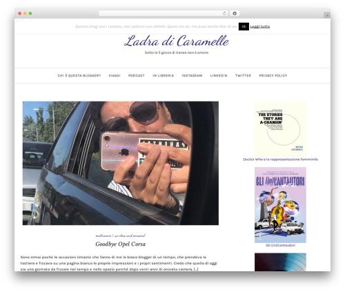 Serenti WordPress website template - blog.ladradicaramelle.com