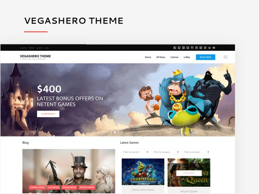 VegasHero Theme theme WordPress