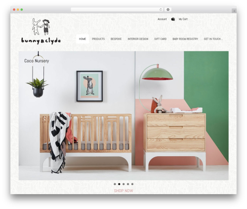 WordPress template Canvas - bunnyandclyde.ie