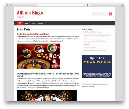 WordPress theme MineZine - bingo123.nu