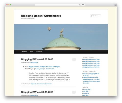 WP template Twenty Eleven - blogging-bw.de