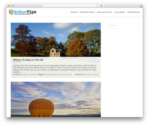 Zerif Lite free WordPress theme - blog.brillianttrips.com