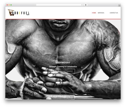 AccessPress Parallax theme WordPress - bodifuel.co.za