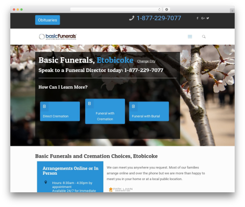 Betheme best WordPress theme - basicfunerals.ca/cities/etobicoke