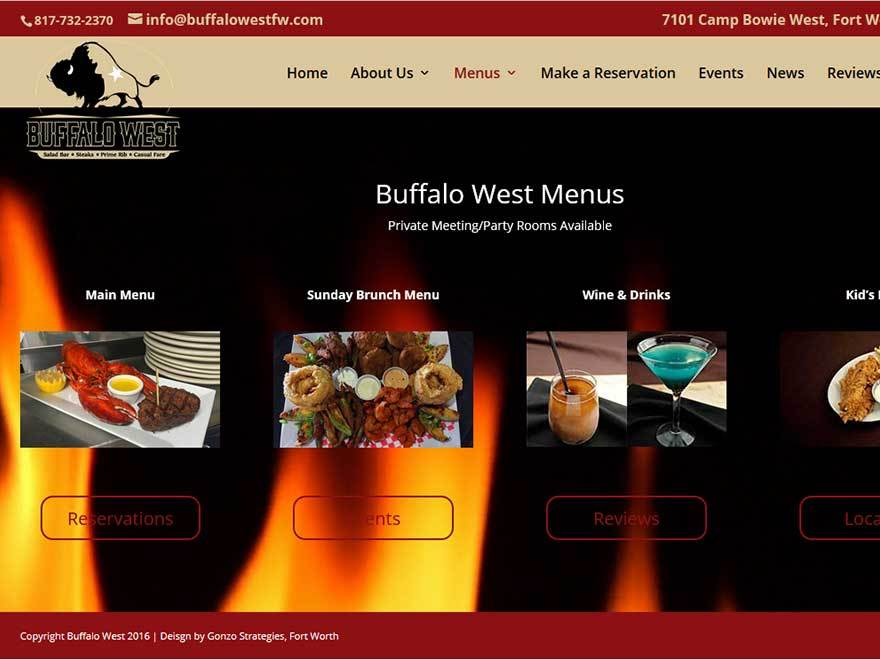 buffalowest best restaurant WordPress theme