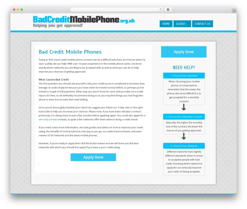 Cell WordPress template free - badcreditmobilephone.org.uk