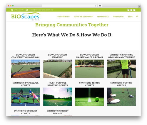 Jupiter WordPress theme - bioscapesgroup.com.au
