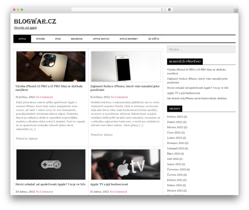 laveo best free WordPress theme - blogwar.cz