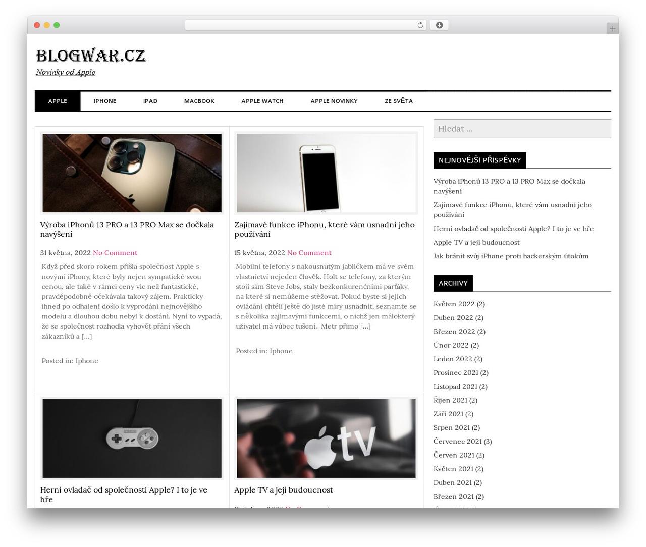 laveo best free WordPress theme - blogwar.cz